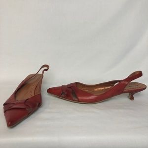 Bronx Red Heels Pumps Shoes | Size 41